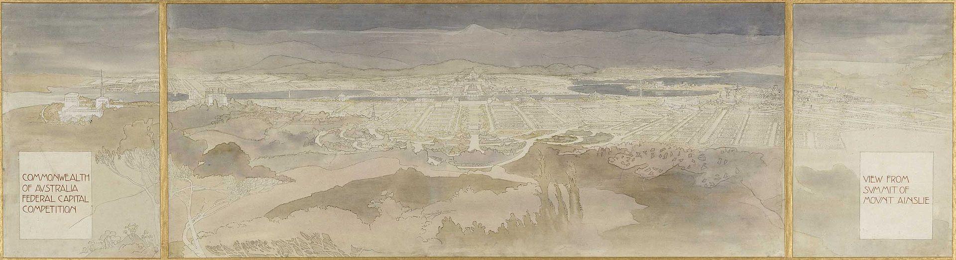 Acuarela del proyecto Canberra. Imagen de dominio público