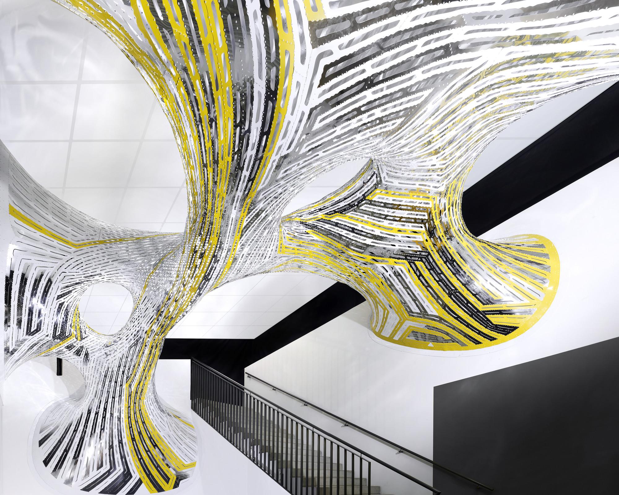 Marc Fornes / THEVERYMANY Installations Transform INRIA , © Marc Fornes / THEVERYMANY - Sous Tension