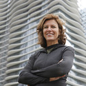 Jeanne Gang in front of the Acqua Tower. Image Courtesy of the John D. and Catherine T. MacArthur Foundation