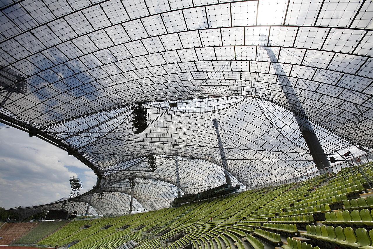 cubierta del Arena Olímpico de las Olimpiadas de Múnich 1972.. Image Cortesia de Wikimedia