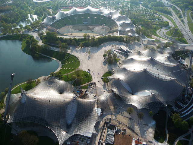 2015 Pritzker Prize Winner Frei Otto's Work in 10 Images, Roofing for main sports facilities in the Munich Olympic Park for the 1972 Summer Olympics. Image © Atelier Frei Otto Warmbronn