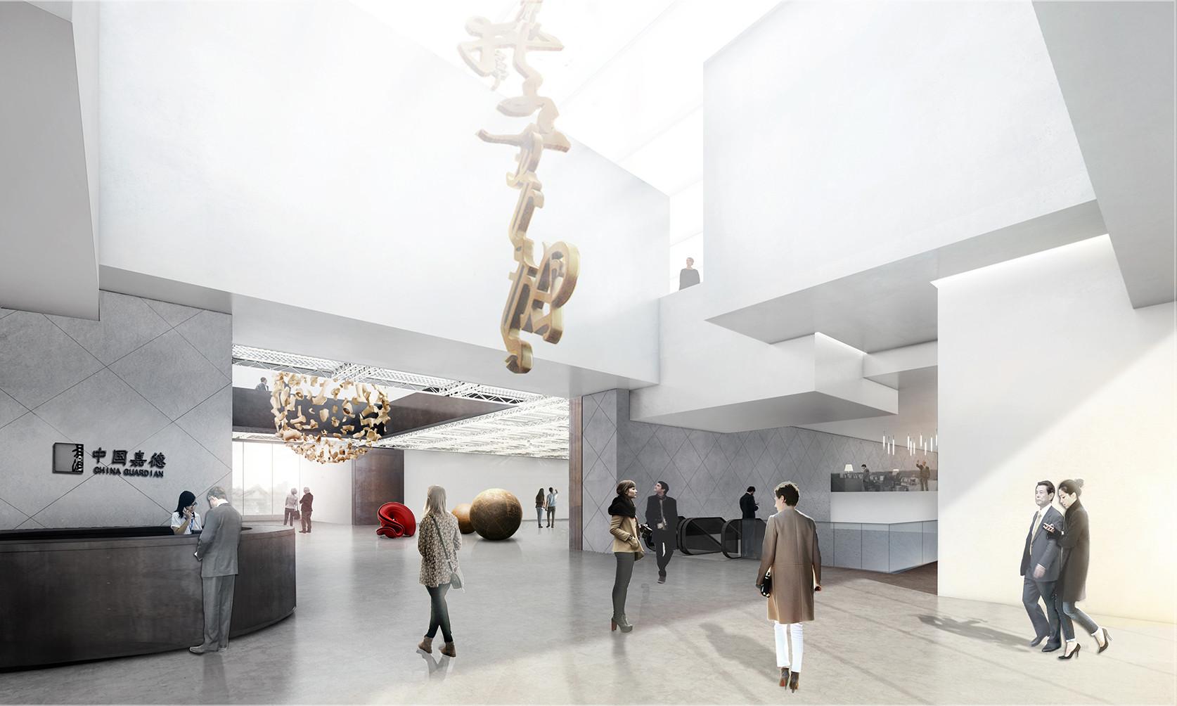 Guardian Art Center by Büro Ole Scheeren, interior. Image Courtesy of Büro Ole Scheeren