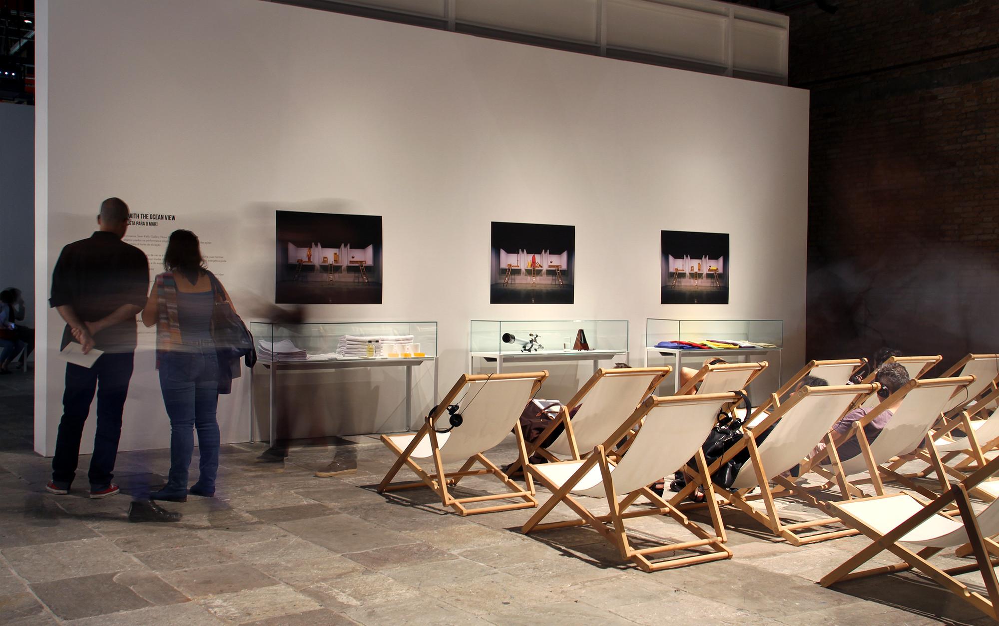 """Projeto expográfico do METRO para a exposição """"Terra Comunal"""". Image © Romullo Baratto"""