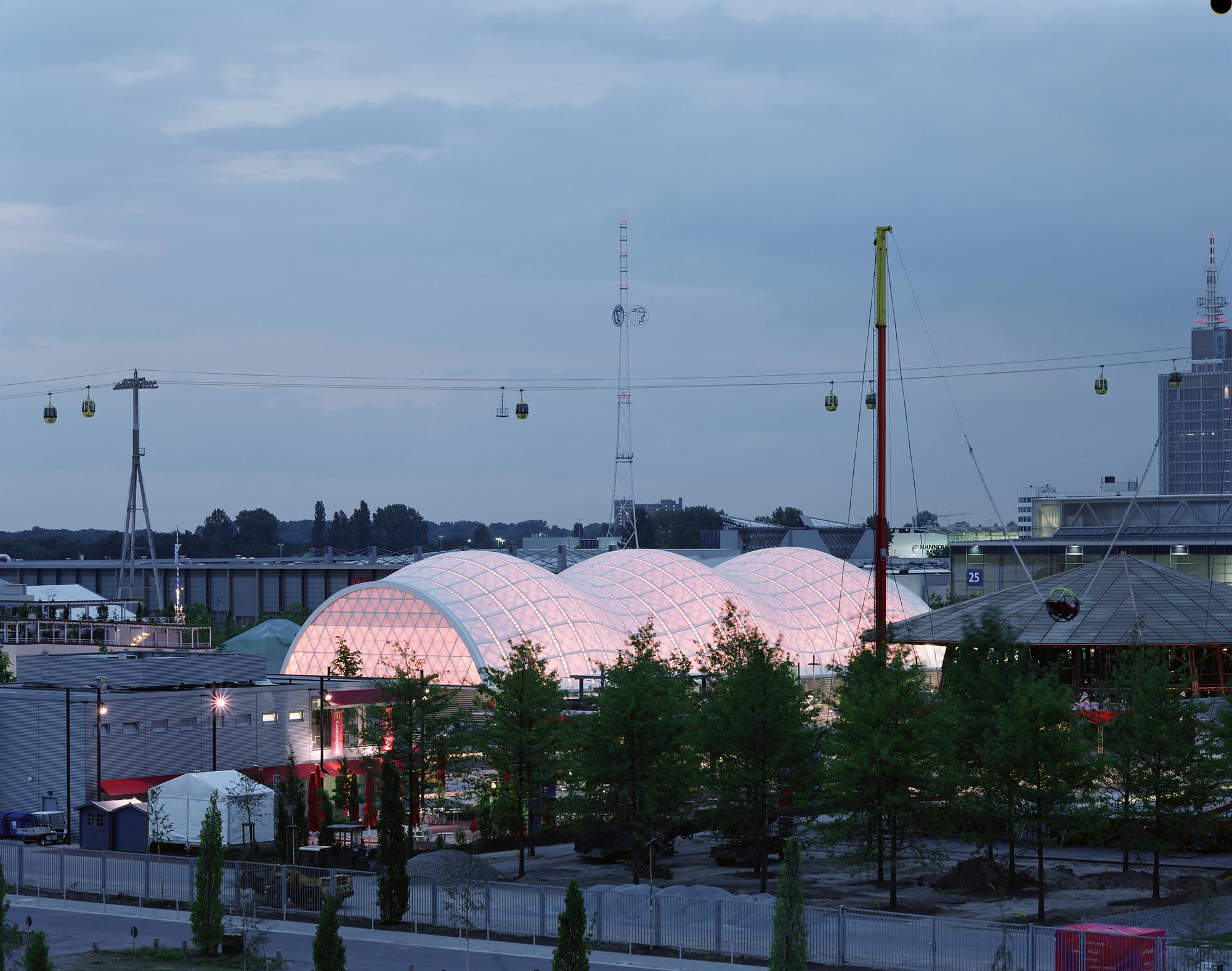 Pabellón de Japón en Expo 2000 Hannover, 2000, Hannover, Alemania. © Hiroyuki Hirai