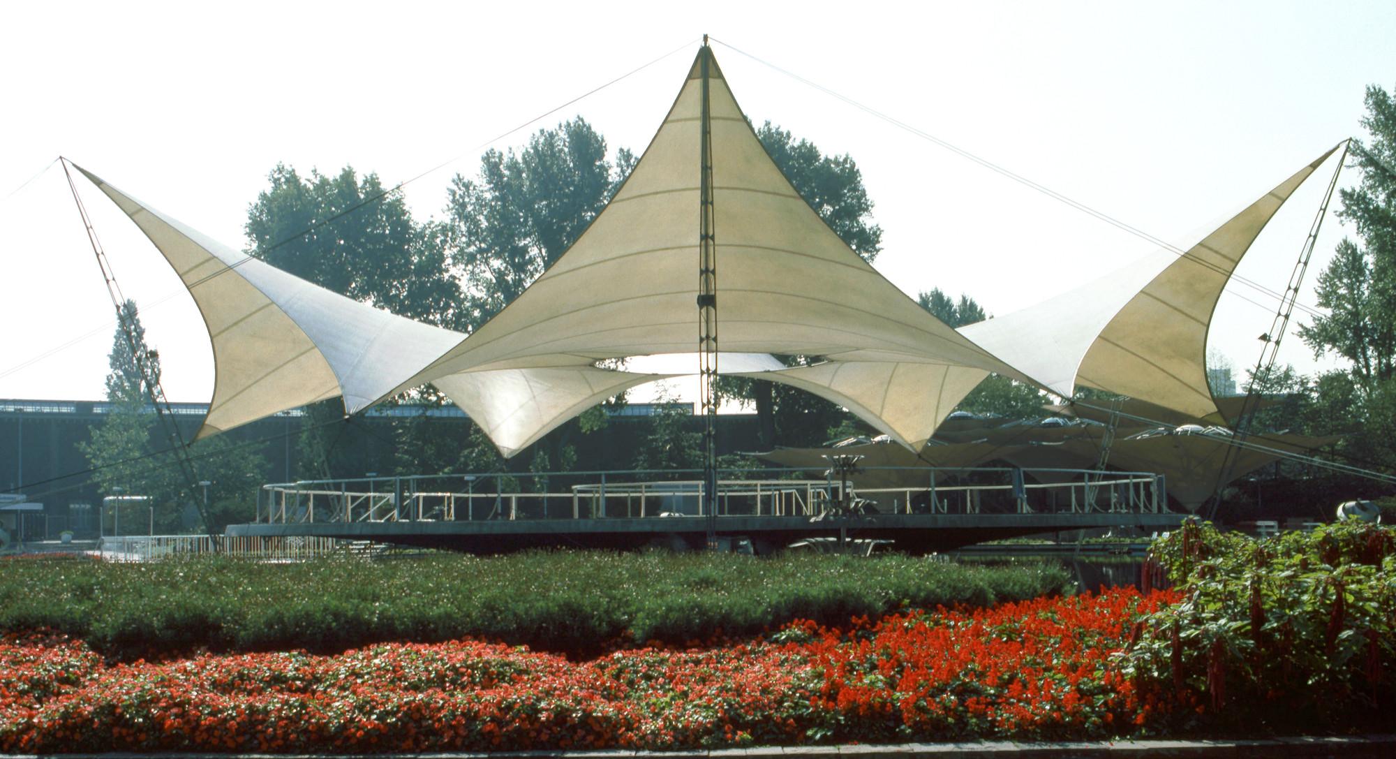 Tanzbrunnen de la Exposición Federal de Jardinería de Colonia, 1957, Colonia, Alemania. © Atelier Frei Otto Warmbronn