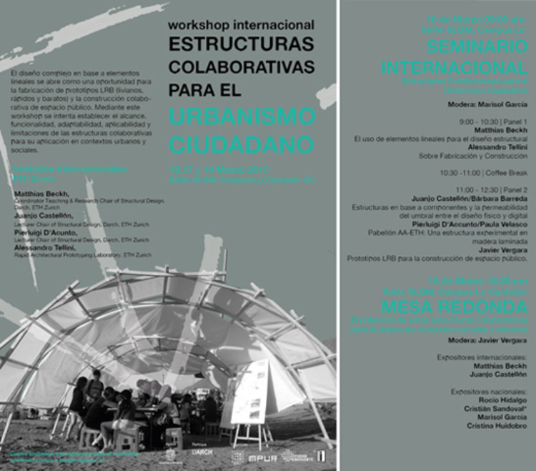 """Workshop Internacional """"Estructuras Colaborativas para el Urbanismo Ciudadano"""" / Santiago"""