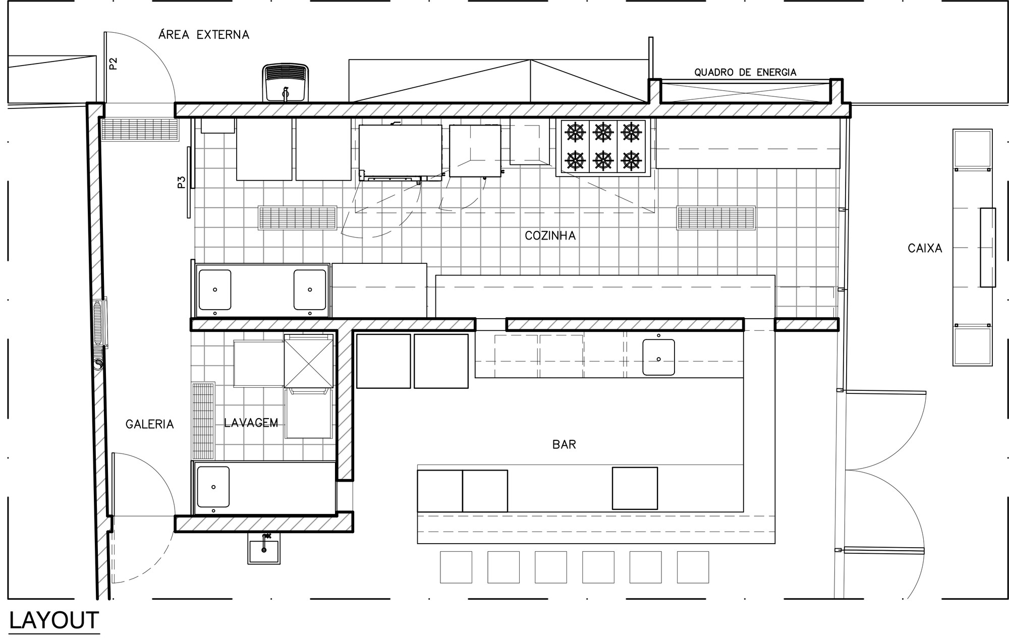 Galeria de Bistrô Bom Demais / Semerene Arquitetura Interior 12 #3F3F3F 2000 1265