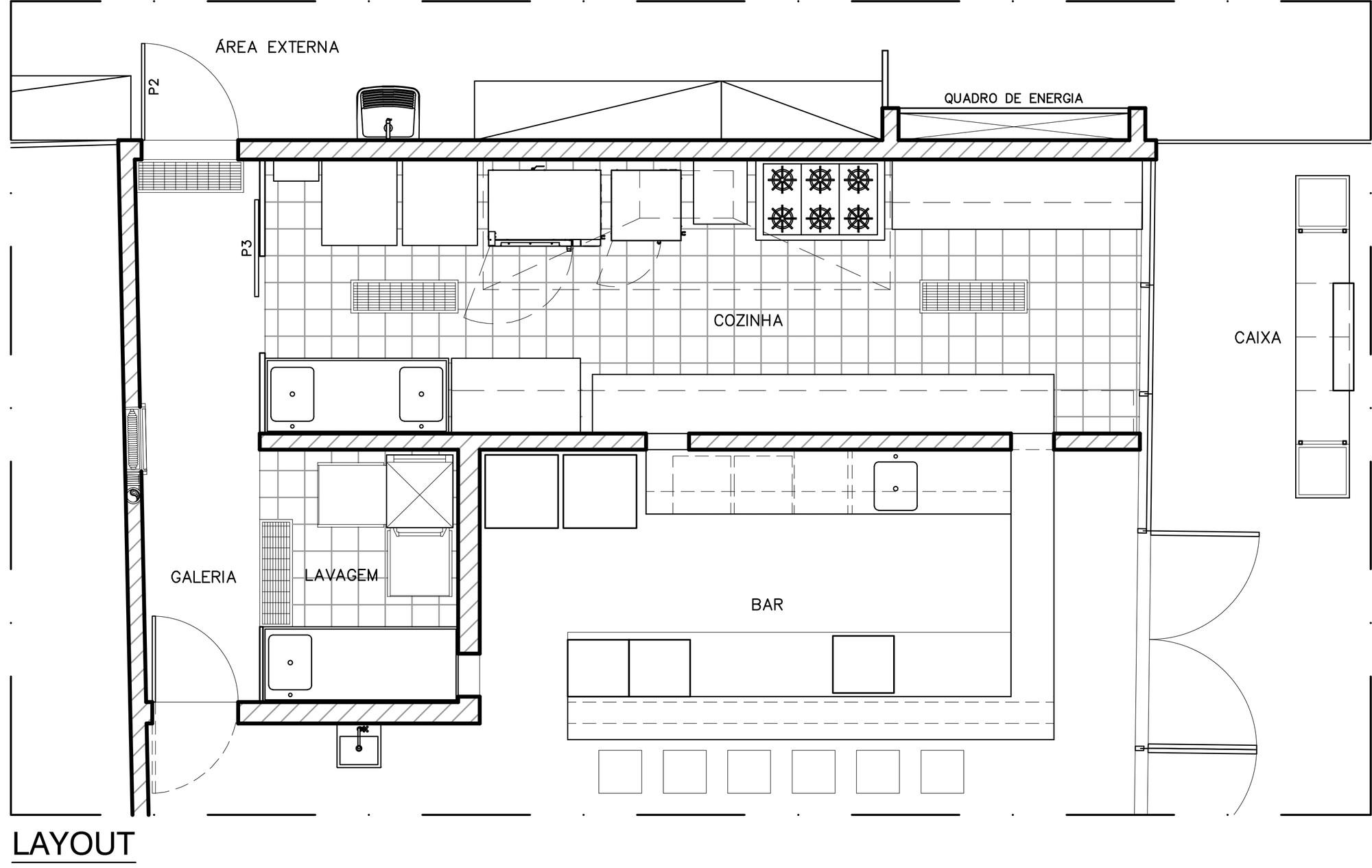 Bistrô Bom Demais / Semerene Arquitetura Interior ArchDaily Brasil #3F3F3F 2000 1265
