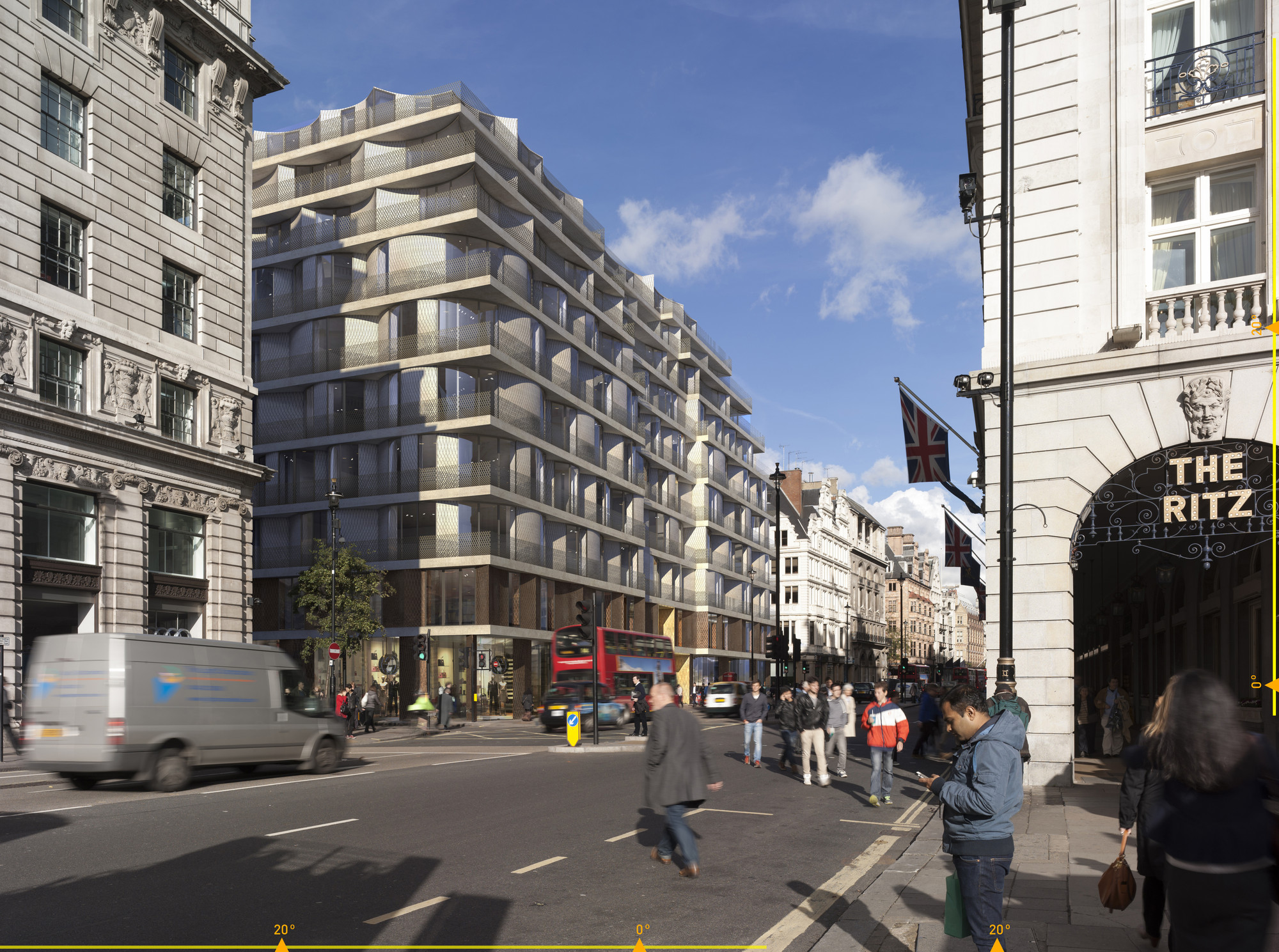 First Images of David Adjaye's £600 Million Piccadilly Redevelopment Plan, Courtesy of Adjaye Associates