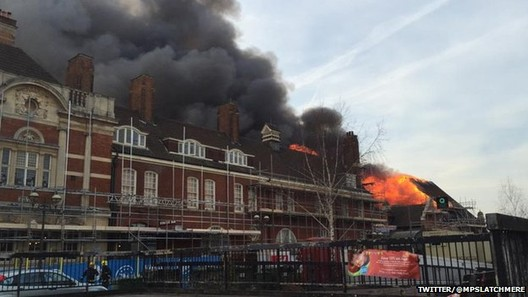 London's Battersea Arts Centre Goes Up in Flames, via BBC