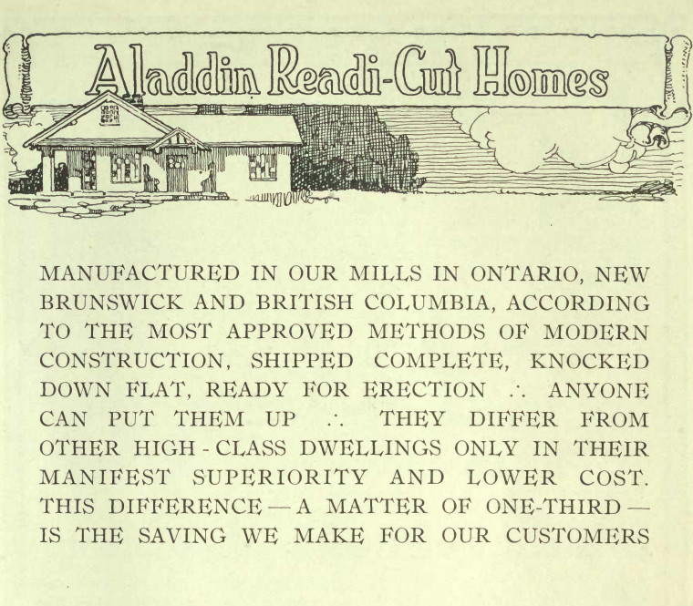 Aladdin Homes catalogue (1918). Image Courtesy of Openlibrary.org