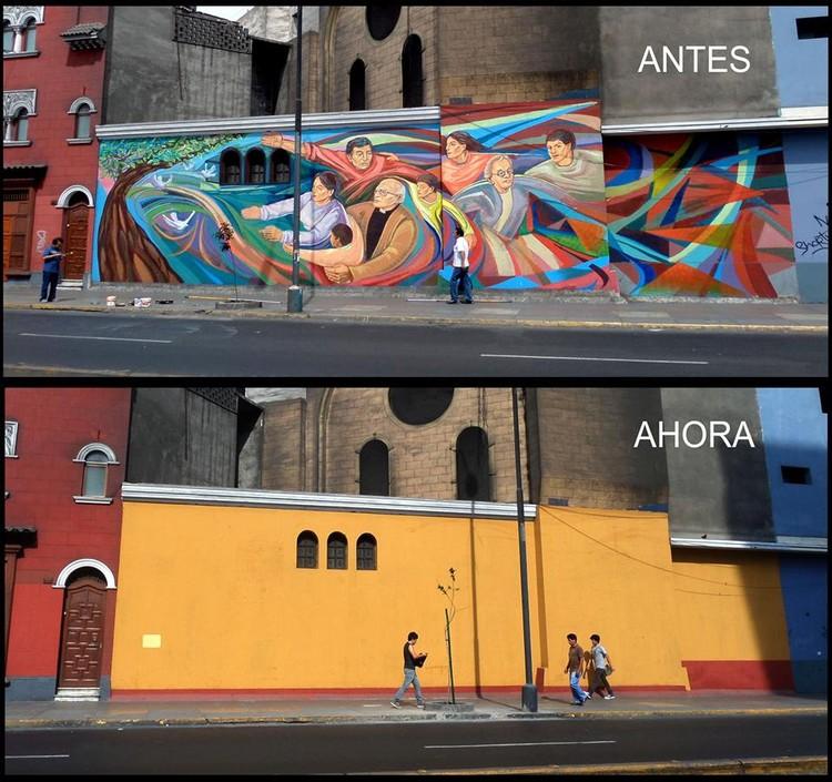"""Mural """"Solidaridad"""" junto a Lurg Arte, Lima.. Image vía Fan Page Olfer"""
