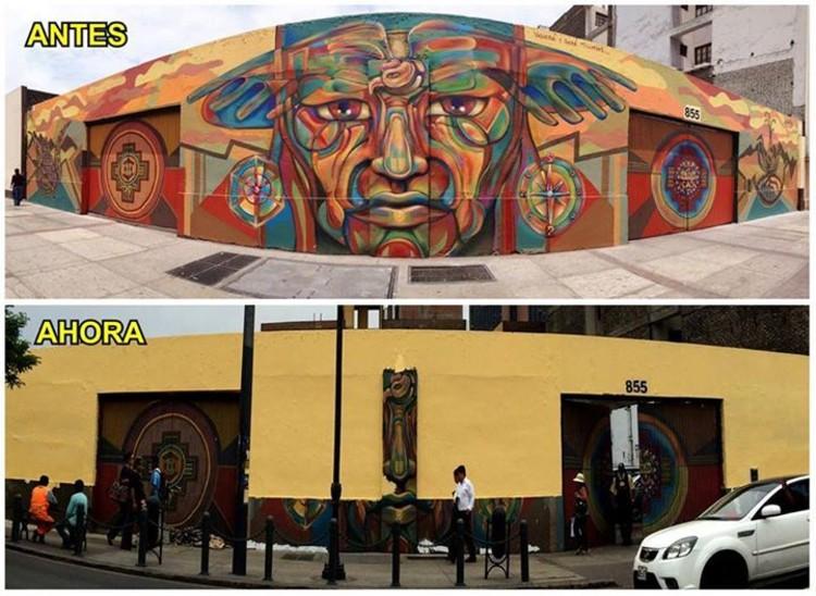 "Mural ""Tupak Katari"", Lima. Image vía Fan Page Guache"