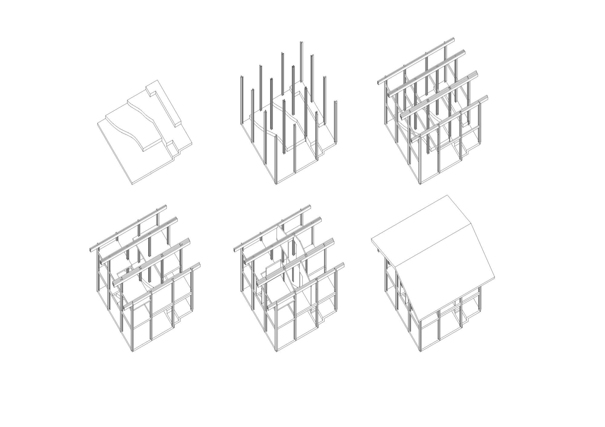 Axonométrica Estructura