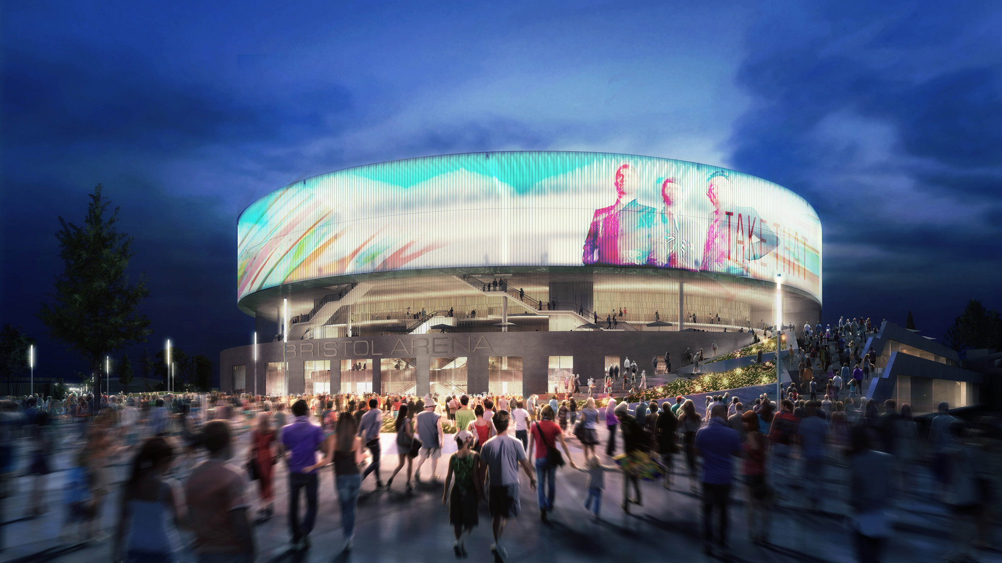 Populous Wins Competition to Design Bristol's £90 Million Arena, © Populous