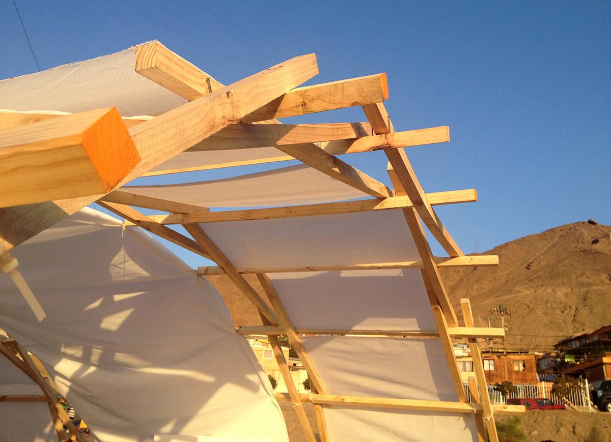 Arcos colaborativos - Población René Schneider y Villa Las Américas, Antofagasta. Image © Ciudad Emergente