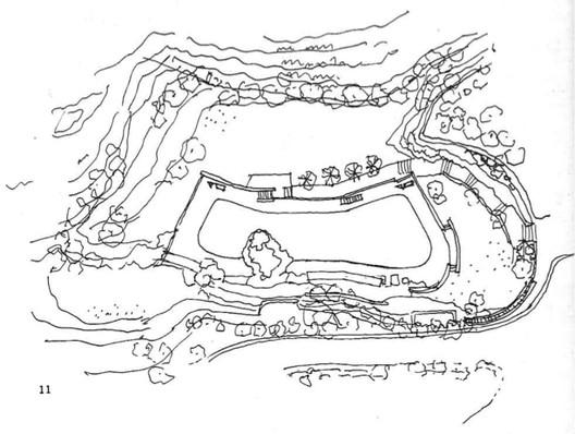 """Tupahue. Image Imagen vía Eliash; Laborde. """"Carlos Martner: Arquitectura y Paisaje."""""""
