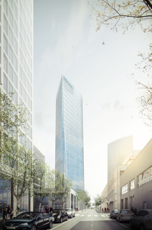 AZPML and SHARE Selected to Design 115-Meter Viennese Office Tower, © SBDA