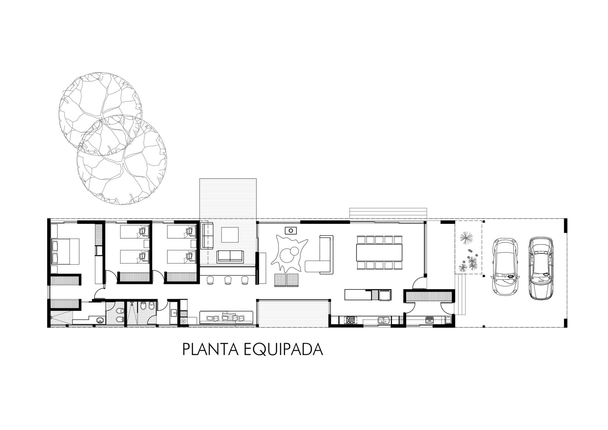 Gallery of linear house roberto benito 16 for Plantas de arquitectura