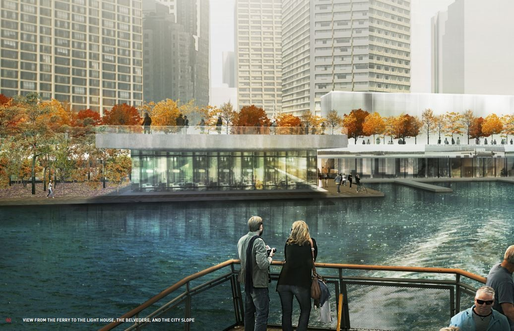 View from Ferry - Jack Layton City Terminal Park / Clement Blanchet Architecture, Batlle i Roig, RTVR, Scott Torrance, Landscape Architect Inc.. Image Courtesy of WATERFRONToronto