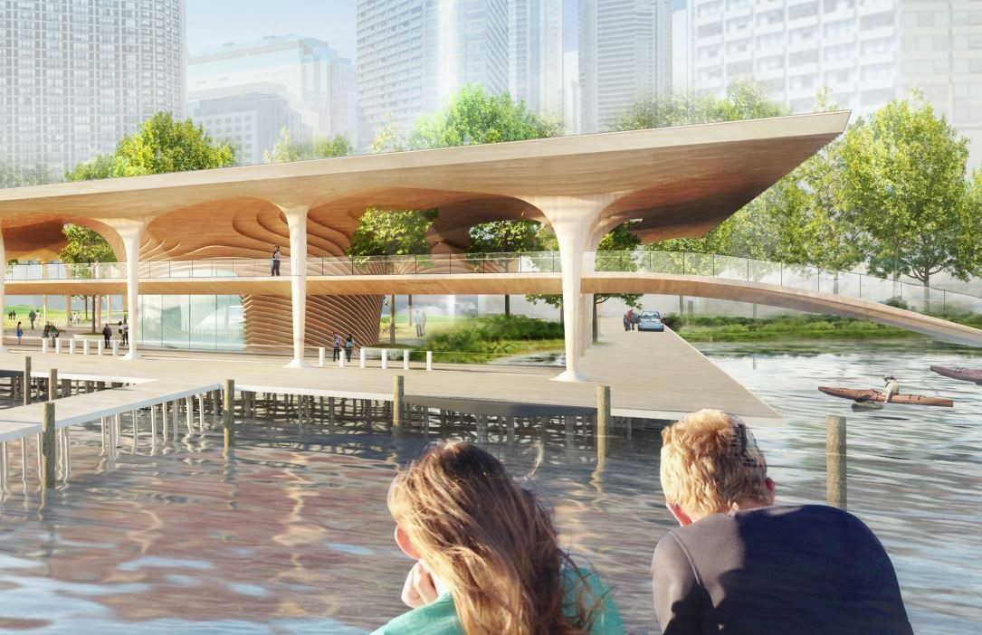 Civic Canopy Ferry Terminal / Diller Scofidio + Renfro, architectsAlliance, Hood Design. Image Courtesy of WATERFRONToronto