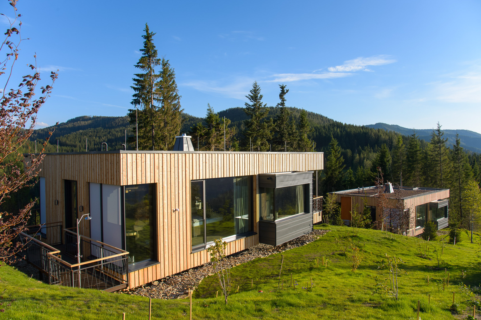 Gallery of deluxe mountain chalets viereck architects 15 for Architectural designs for chalets