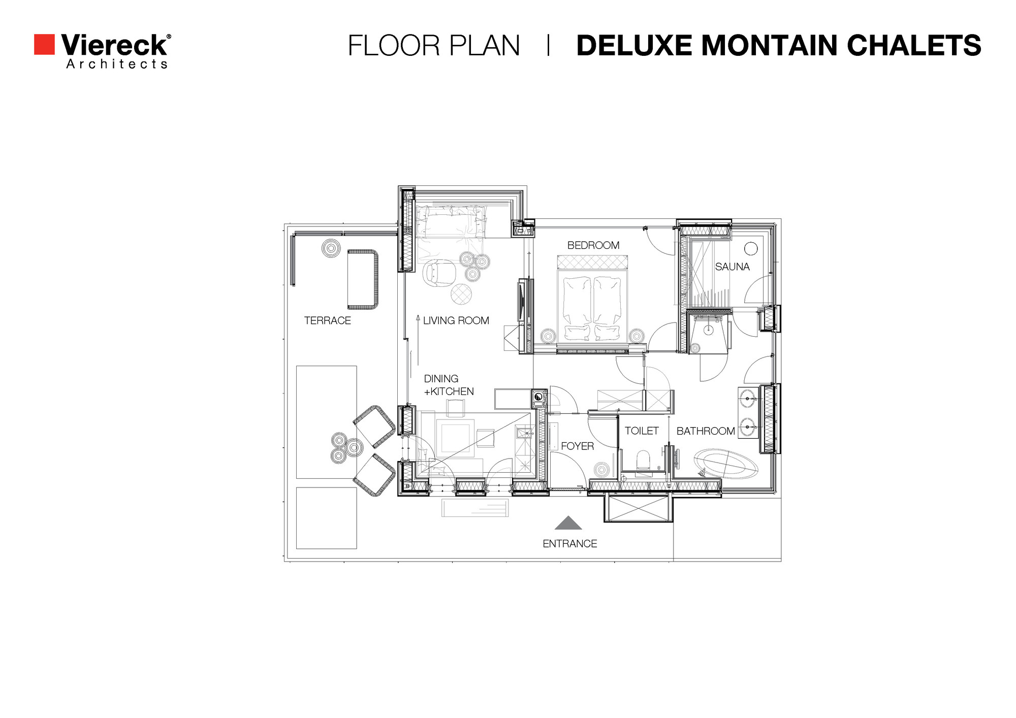 Gallery of deluxe mountain chalets viereck architects 22 for Mountain architecture floor plans