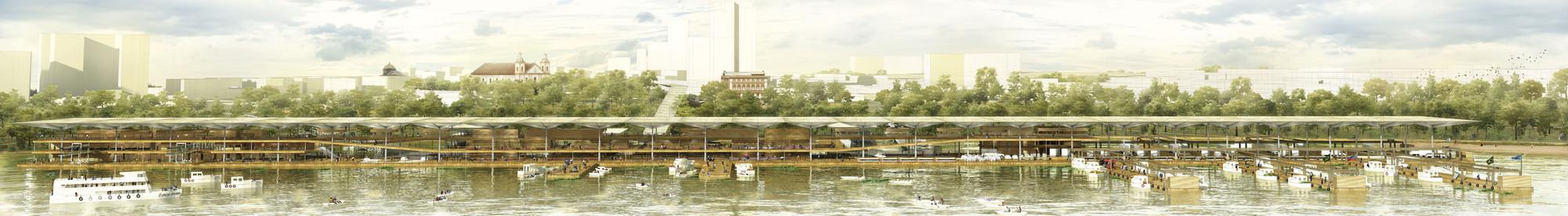 Vista desde el río. Image Cortesia de Estudio mono