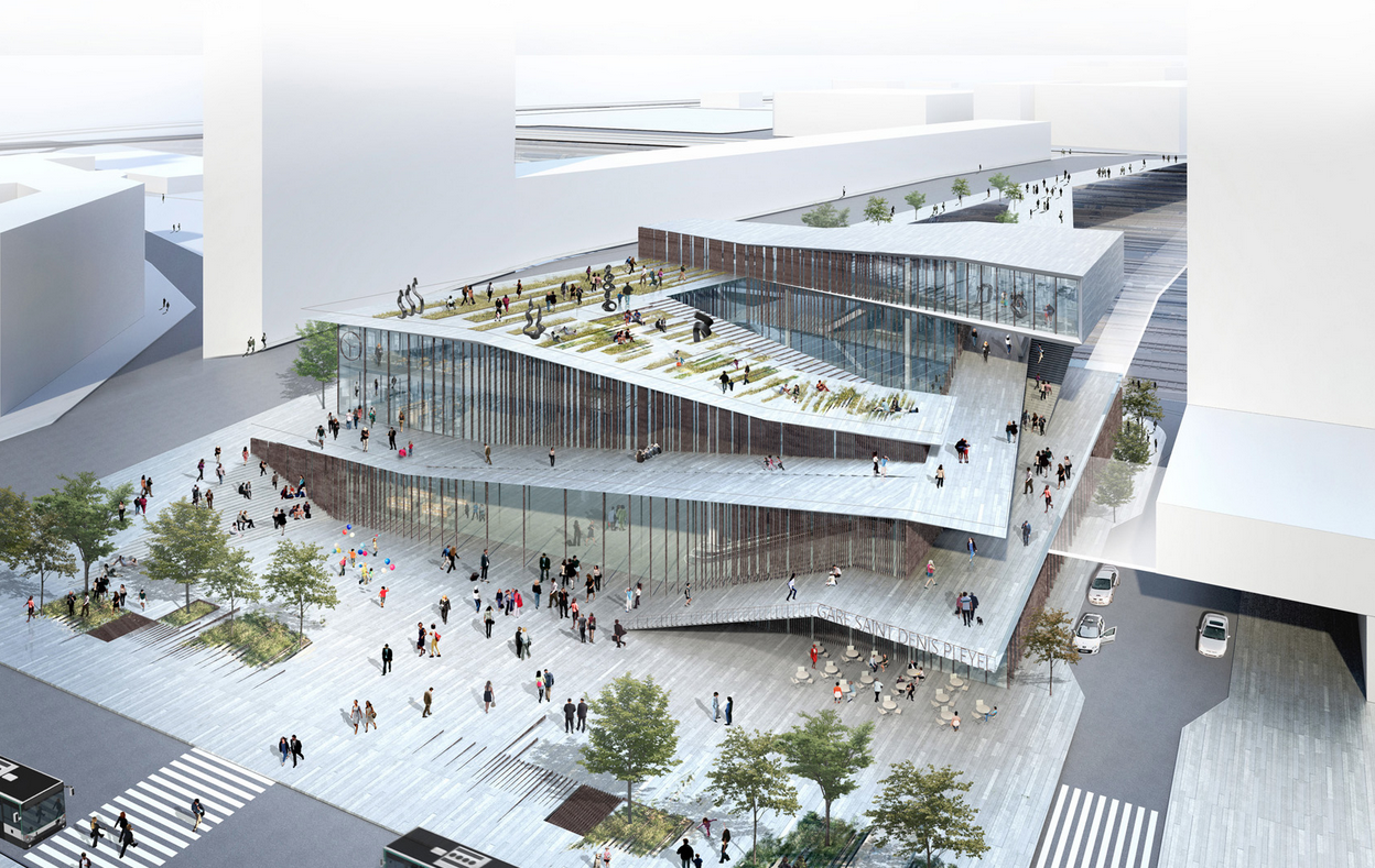 Kengo kuma wins competition to design metro station in for Design paris