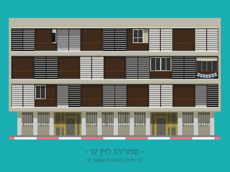 17 Shmaryahu Levin St.. Imagen © Avner Gicelter