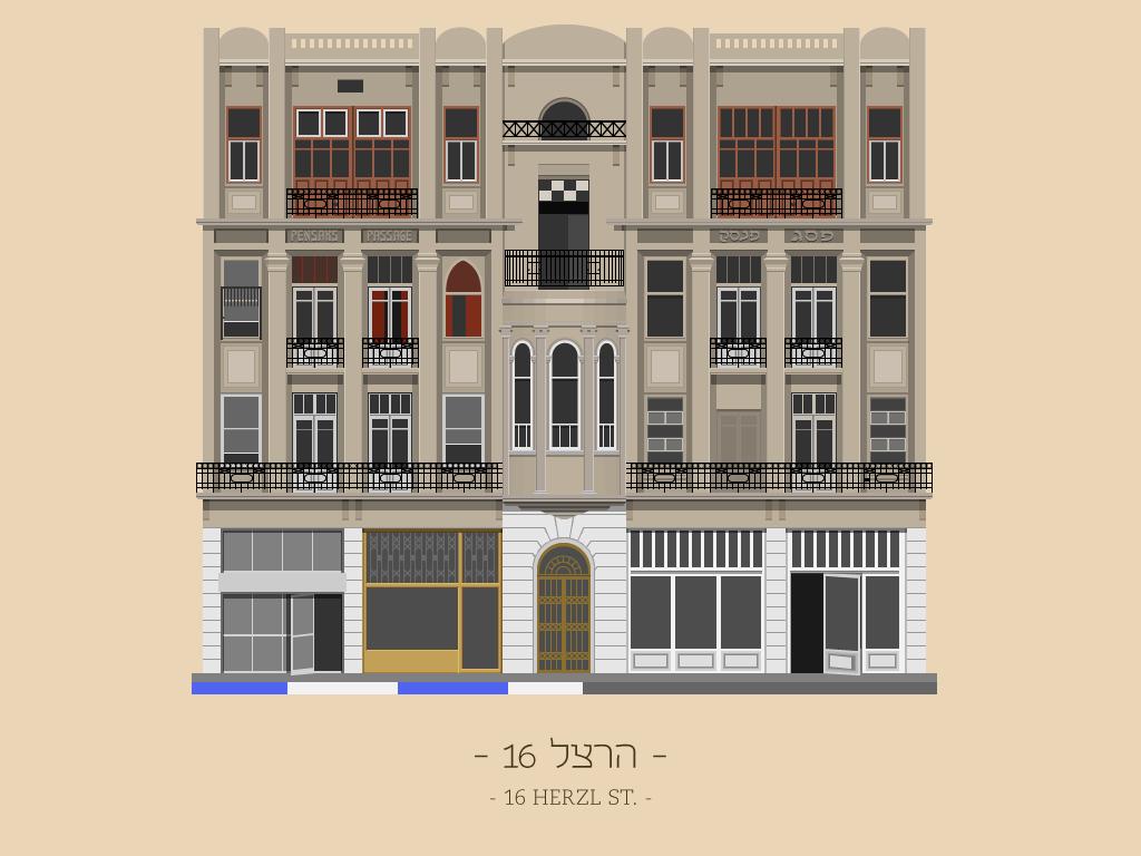 16 Herzl St.. Imagen © Avner Gicelter