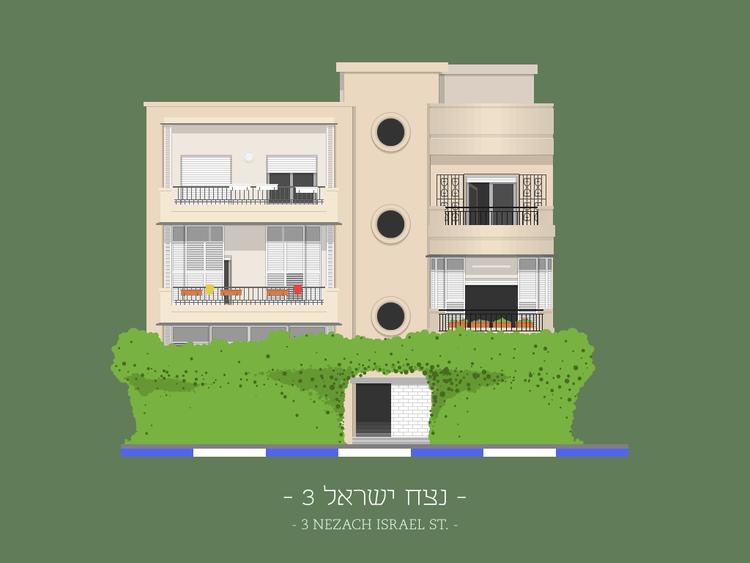 3 Nezach Israel St.. Imagen © Avner Gicelter