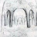 Interior sketch by Gaudí. Image Courtesy of 6sqft