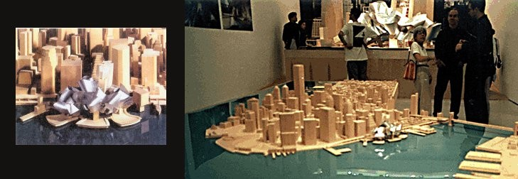 Models of Gehry's design that were put on display for the public. Image © Carter B. Horsley for The City Review