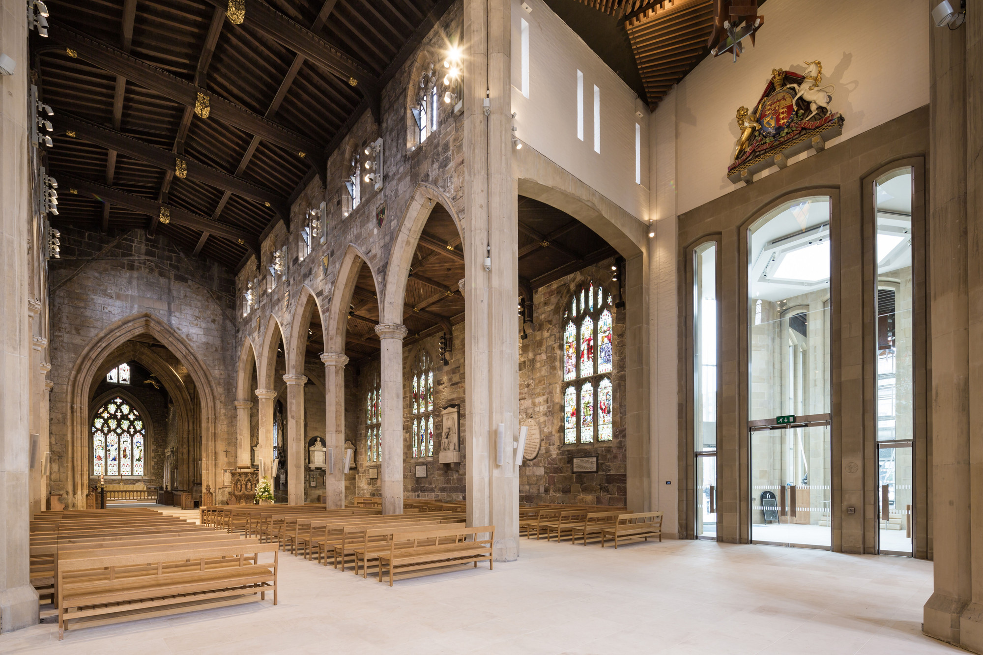 Shortlist Announced For 2015 RIBA Yorkshire Awards, Shortlisted: Sheffield Cathedral, Sheffield / Thomas Ford and Partners. Image © Exposure Property Marketing