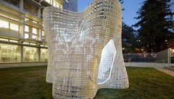 "Emerging Objects Creates ""Bloom"" Pavilion from 3D Printed Cement"