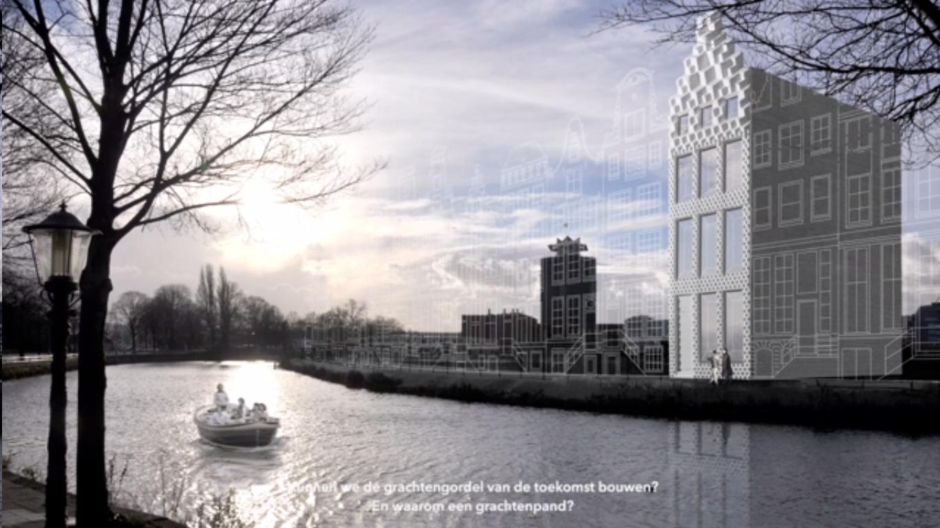 3D Print Canal House: en Ámsterdam se levanta la primera vivienda levantada a partir de bloques creados en impresión 3D. Image vía Dus Architects