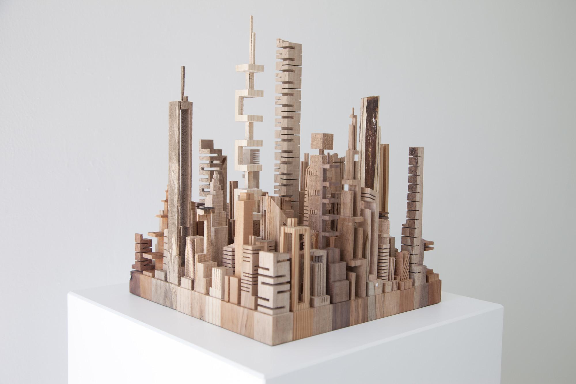 Arte y Arquitectura: Ciudades y paisajes urbanos construidos con desechos de madera, ©  Aurelie Laurent / Petit Jules