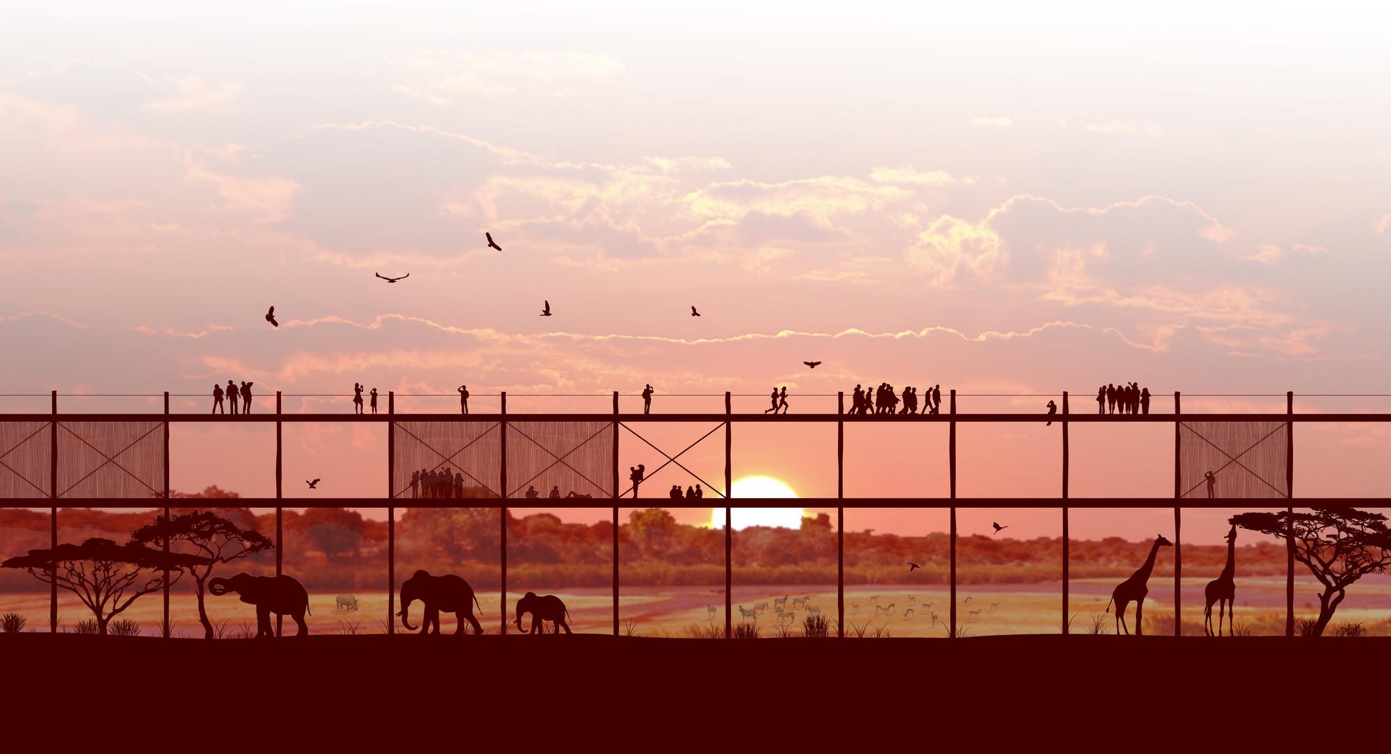 Propuesta WALK!, primer lugar en concurso IWC África / Sudáfrica, Elevación/alzado. Image Cortesia de Arquideas