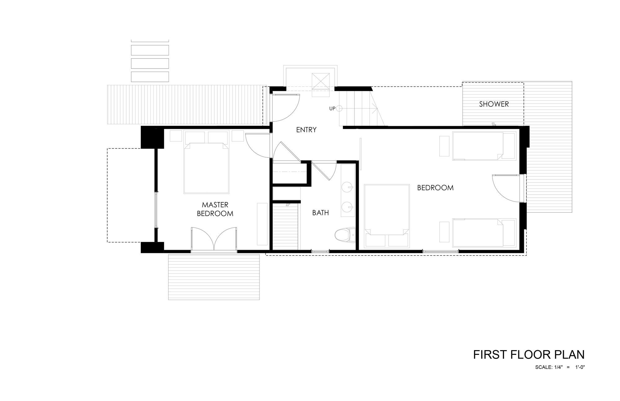 Gallery of 510 cabin hunter leggitt studio 22 for Arched cabin floor plans