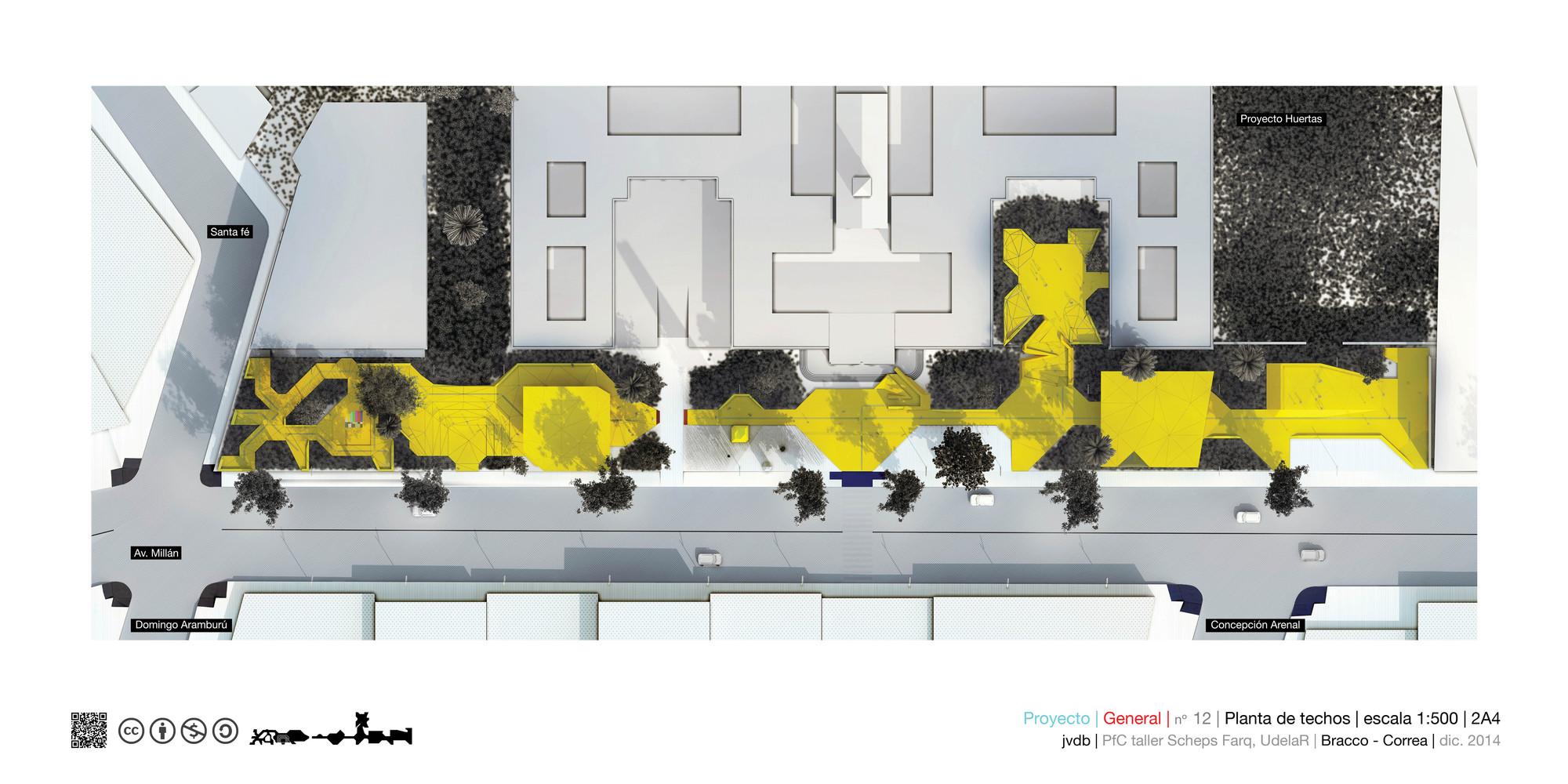 Planta de techos/cubiertas. Image Cortesia de Marcos Bracco y Nacho Correa