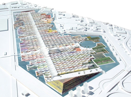 The masterplan for the Expo produced by Herzog & de Meuron in 2009. Image Courtesy of Herzog & de Meuron