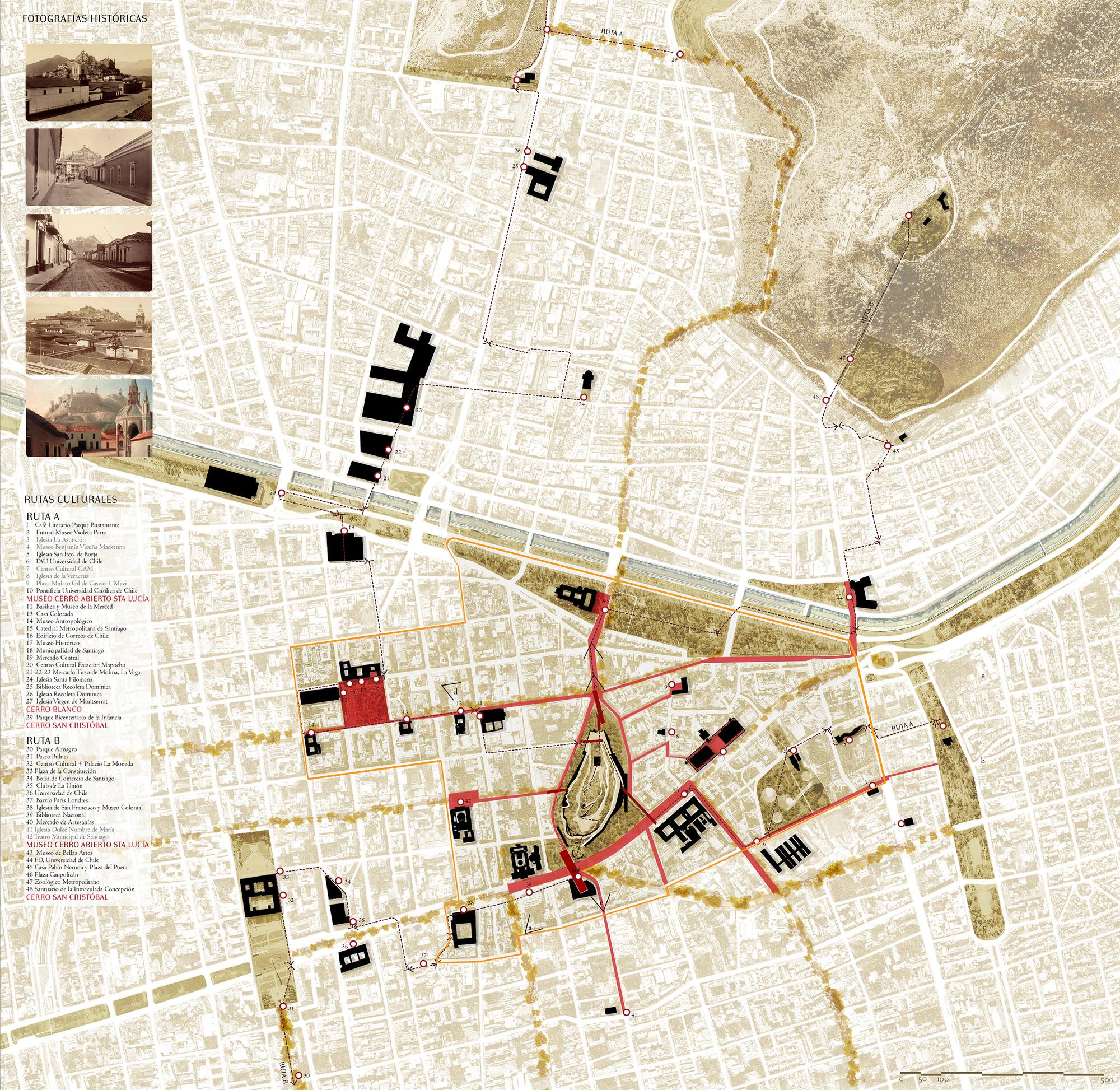 Rutas culturales. Image Cortesia de Fundación Cerros Isla + Macarena Gaete