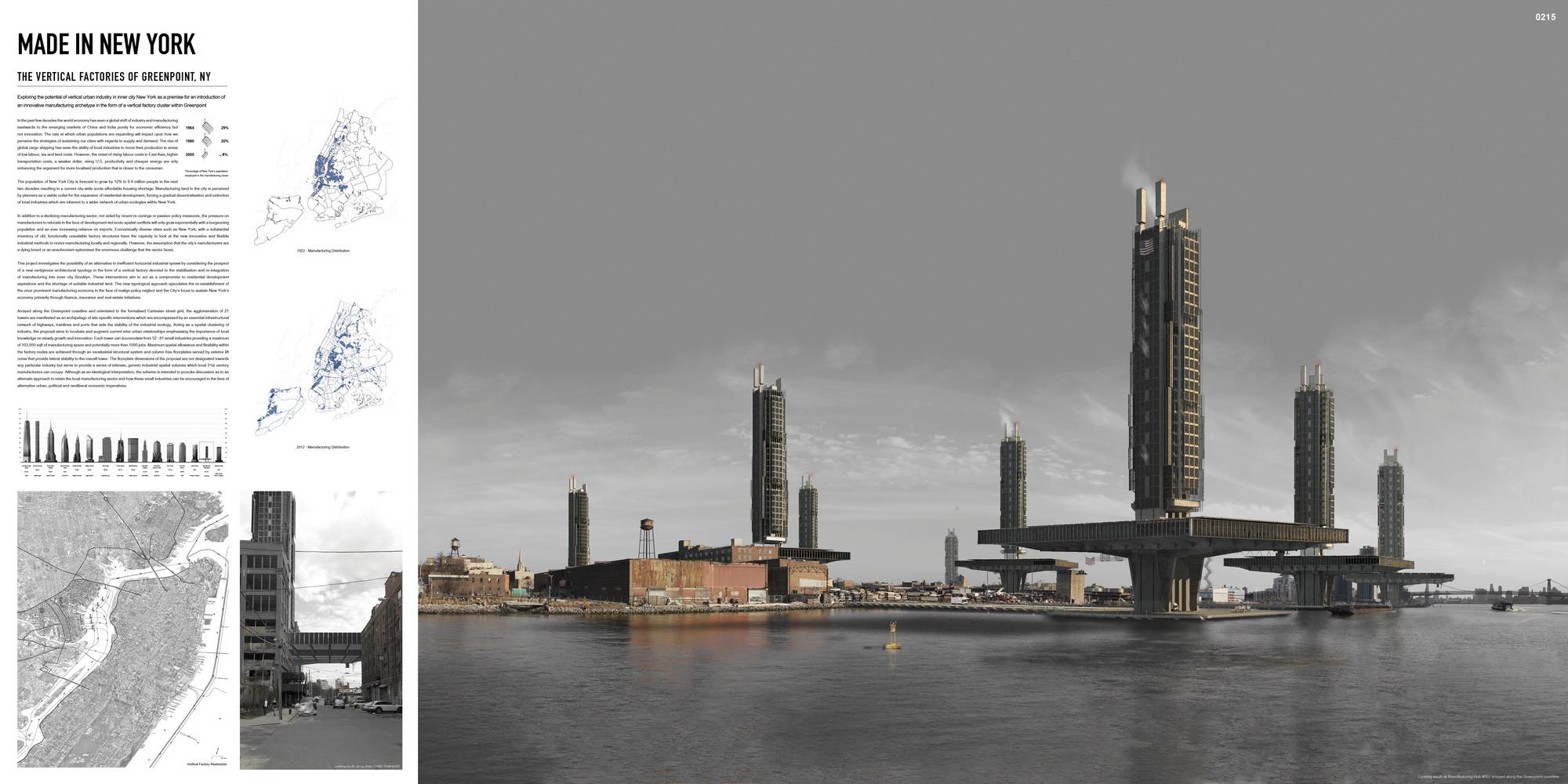 """Mención honrosa: """"Made in New York: The Vertical Cities of Greenport, NY"""" / Stuart Beattie .  Imagen cortesía de eVolo"""