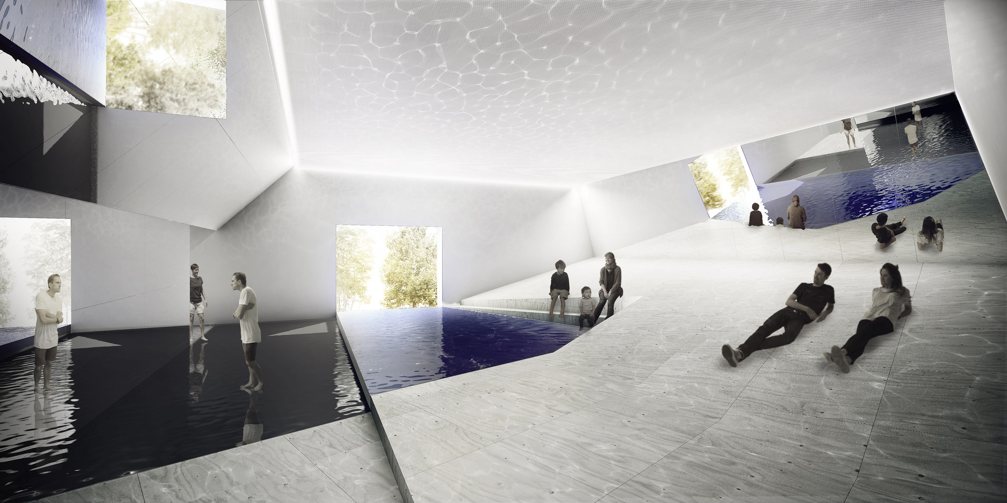 Venice Biennale 2016: 5 Proposals Shortlisted for Australian Pavilion,  The Pool / Aileen Sage and Michelle Tabet  . Image Courtesy of Australian Institute of Architects