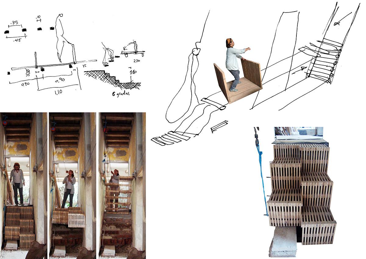 Dibujos de Proceso / Carrito y Escalera