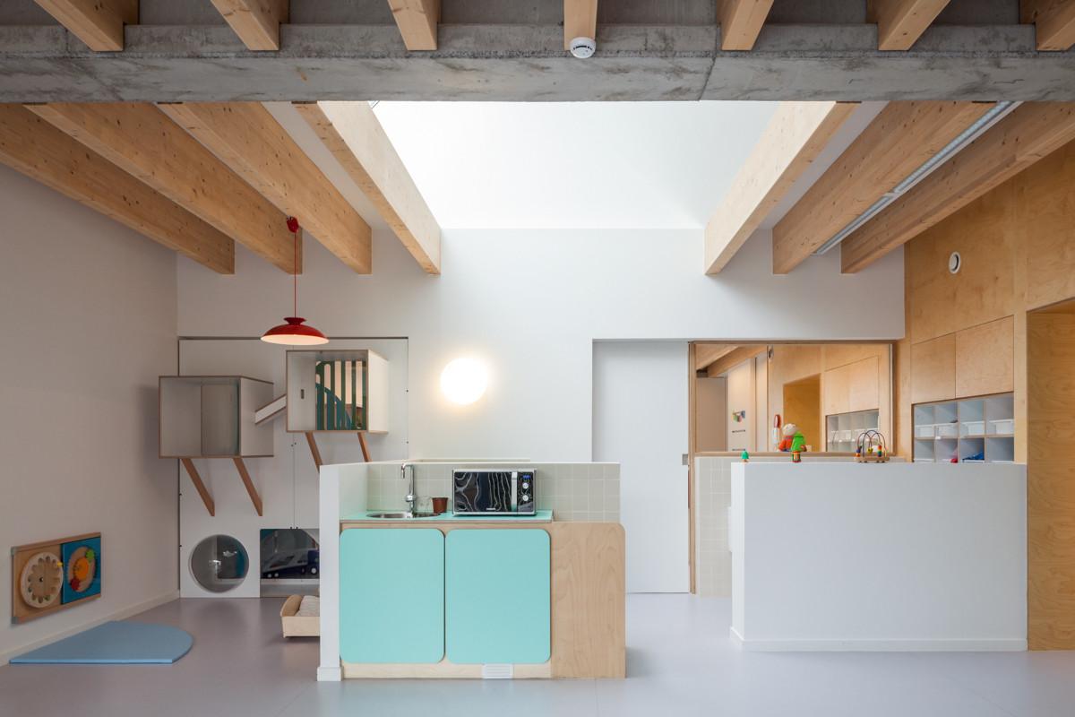 "Nursery ""Pluchke"" Ukkel / ZAmpone Architectuur, © Tim Van de Velde"