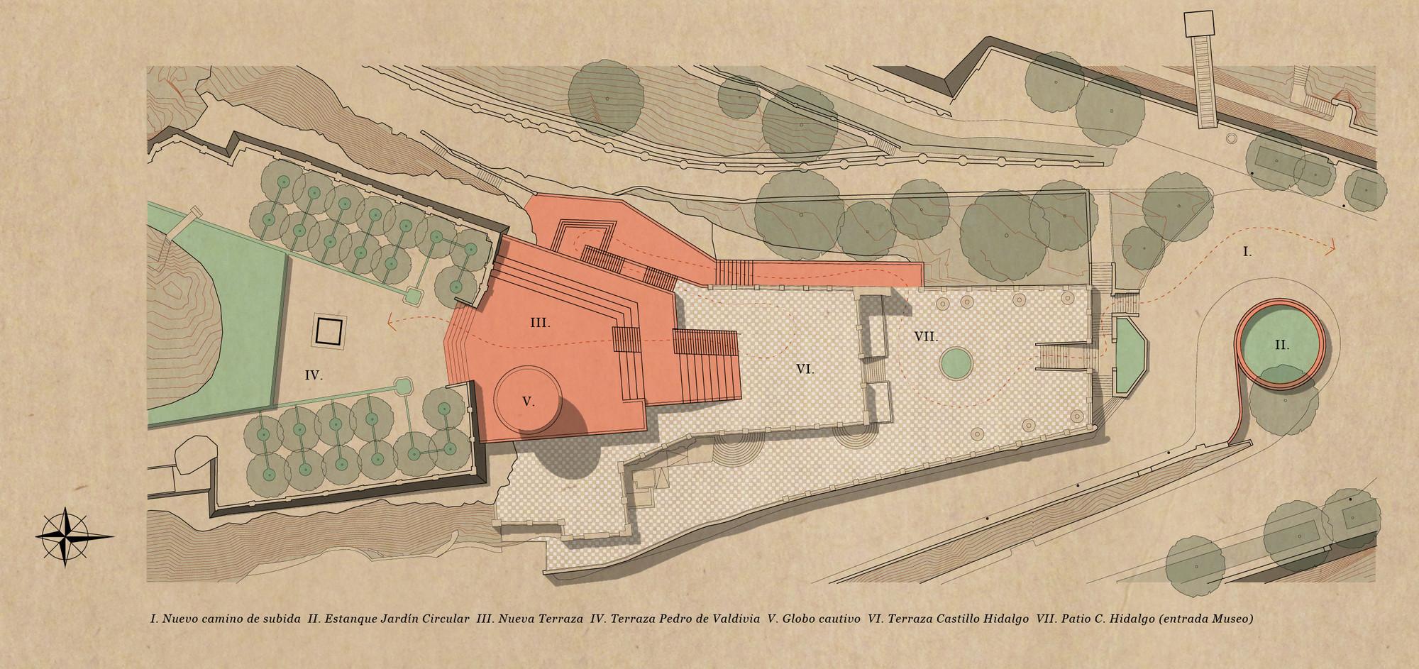 Planta Castillo Hidalgo. Image Cortesia de Mario Pérez de Arce Arquitectos y Asociados