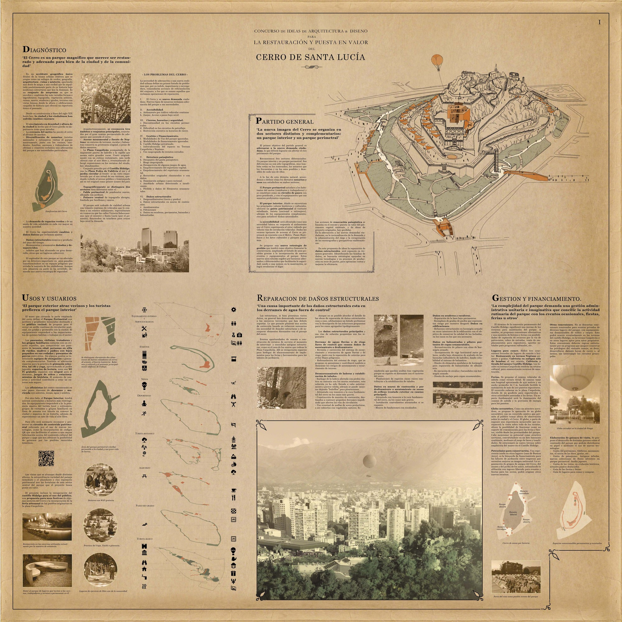 Lámina #01. Image Cortesia de Mario Pérez de Arce Arquitectos y Asociados
