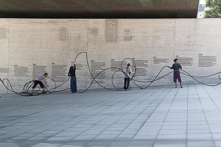 Intervención Urbana: INMATERIALES, instalación participativa en MilM2 , Cortesia de Proyecto Colectivo